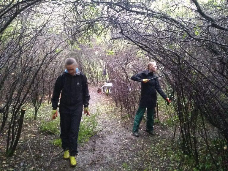 Volunteers working in the Blackthorn Tunnel